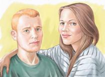 Портрет парня и девушки